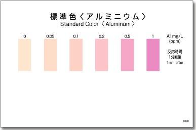 パックテスト標準色 50枚組 アルミニウム