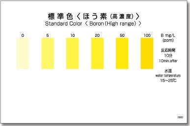 パックテスト標準色 50枚組 ほう素(高濃度)