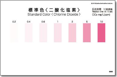 パックテスト標準色 50枚組 二酸化塩素