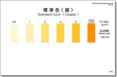 パックテスト標準色 50枚組 銅
