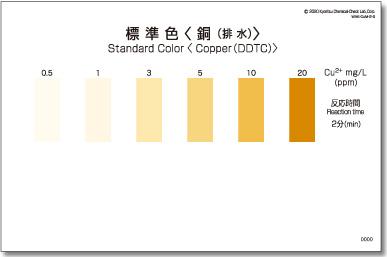 パックテスト標準色 5枚組 銅(排水)