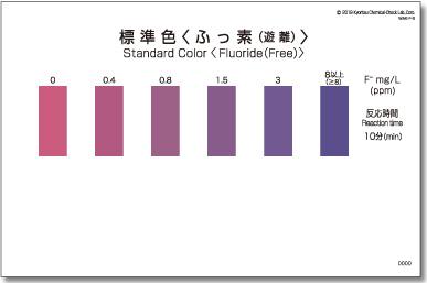 パックテスト標準色 5枚組 ふっ素(遊離)