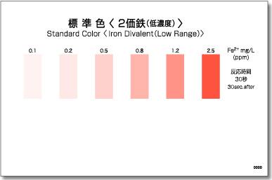 パックテスト標準色 50枚組 2価鉄(低濃度)