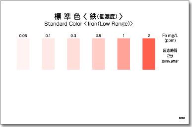 パックテスト標準色 5枚組 鉄(低濃度)
