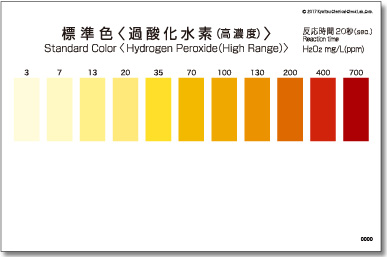 パックテスト標準色 5枚組 過酸化水素(高濃度)