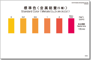 パックテスト標準色 50枚組 金属総量(5種)