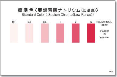 パックテスト標準色 50枚組 亜塩素酸ナトリウム(低濃度)