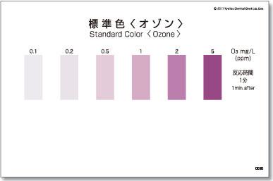 パックテスト標準色 5枚組 オゾン