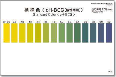 パックテスト標準色 50枚組 pH-BCG