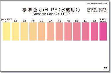 パックテスト標準色 5枚組 pH-PR(水道用)
