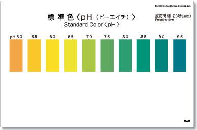 パックテスト標準色 5枚組 pH