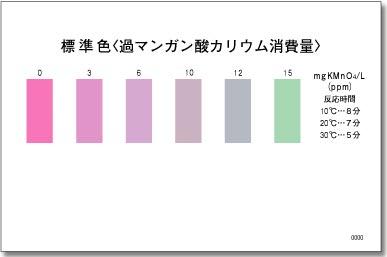パックテスト標準色 5枚組 過マンガン酸カリウム消費量