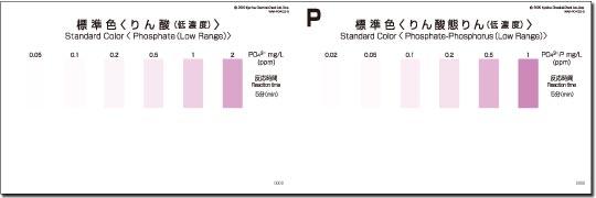 パックテスト標準色 5枚組 りん酸(低濃度)