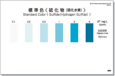 パックテスト標準色 5枚組 硫化物(硫化水素)