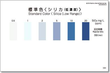 パックテスト標準色 50枚組 シリカ(低濃度)