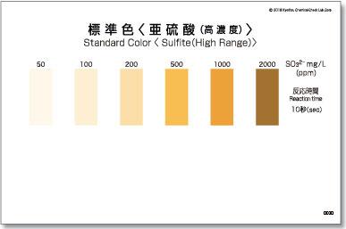 パックテスト標準色 5枚組 亜硫酸(高濃度)