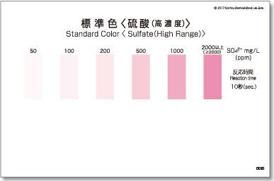 パックテスト標準色 50枚組 硫酸(高濃度)