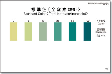 パックテスト標準色 5枚組 全窒素(無機)
